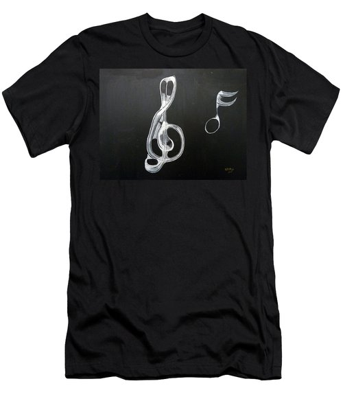 Men's T-Shirt (Athletic Fit) featuring the painting Treble Clef by Richard Le Page