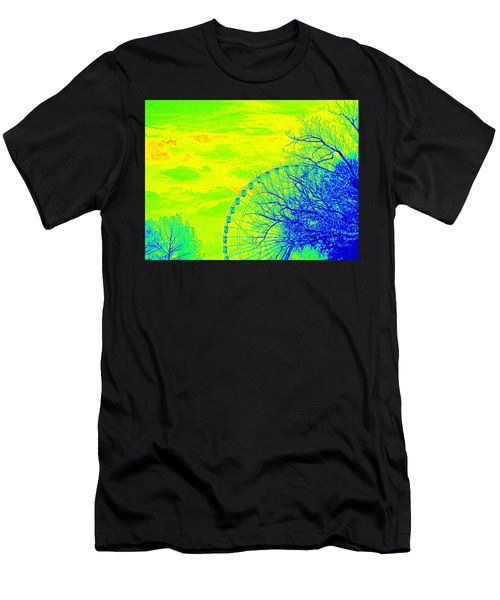 Tree And Ferris Wheel  Men's T-Shirt (Athletic Fit)