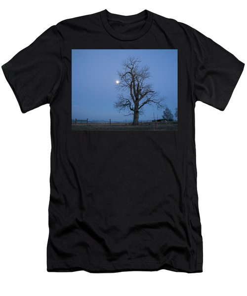 Tree And Moon Men's T-Shirt (Athletic Fit)