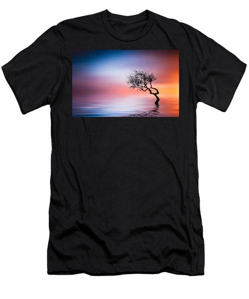 Tree At Lake Men's T-Shirt (Athletic Fit)