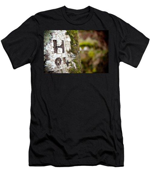 Tree Bark Graffiti - H 04 Men's T-Shirt (Athletic Fit)