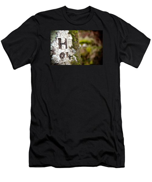 Tree Bark Graffiti - H 04 Men's T-Shirt (Athletic Fit)