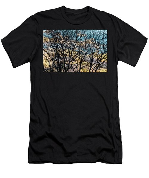 Tree Branches And Colorful Clouds Men's T-Shirt (Slim Fit) by James BO Insogna