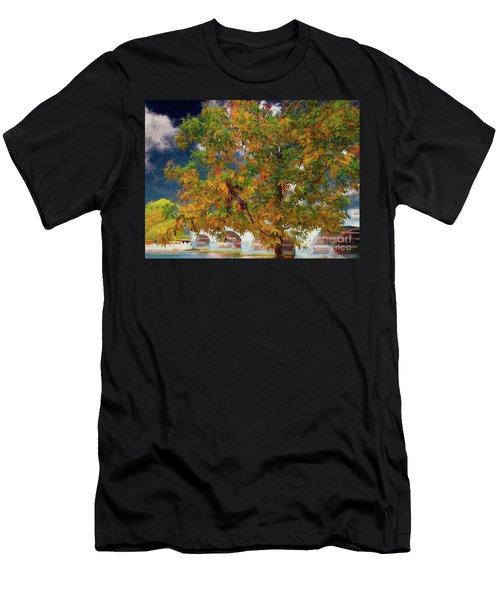 Tree By The Bridge Men's T-Shirt (Athletic Fit)