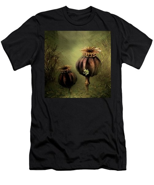 Tree Frog And Poppies Men's T-Shirt (Athletic Fit)