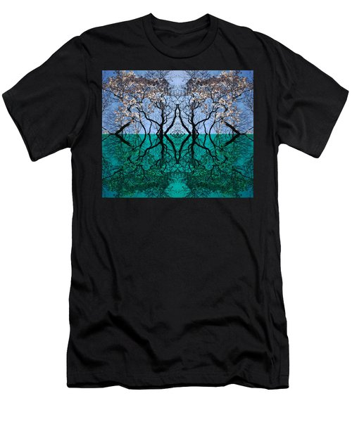 Tree Gate Between Water And Sky Worlds Men's T-Shirt (Athletic Fit)
