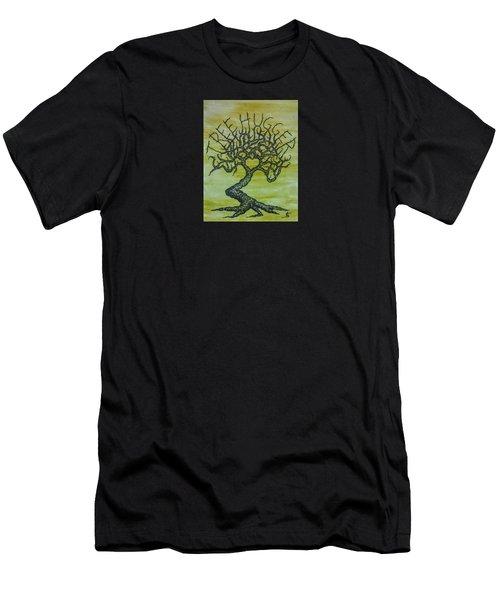 Tree Hugger Love Tree Men's T-Shirt (Athletic Fit)