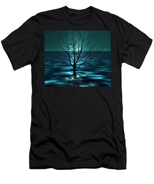 Men's T-Shirt (Athletic Fit) featuring the photograph Tree In Ocean by Marianna Mills