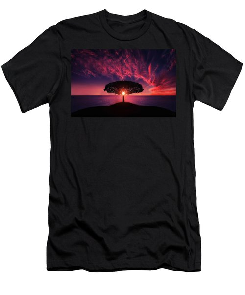Tree In Sunset Men's T-Shirt (Athletic Fit)