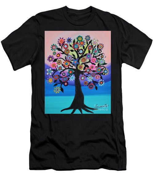 Blooming Tree Of Life Men's T-Shirt (Athletic Fit)