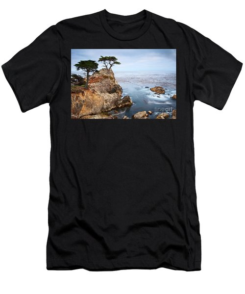 Tree Of Dreams - Lone Cypress Tree At Pebble Beach In Monterey California Men's T-Shirt (Athletic Fit)