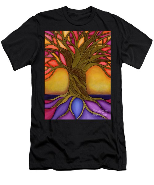 Men's T-Shirt (Athletic Fit) featuring the painting Tree Of Life by Carla Bank