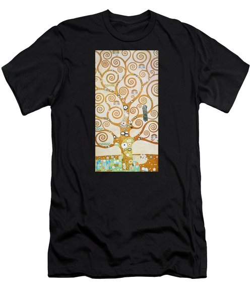 Men's T-Shirt (Athletic Fit) featuring the painting Tree Of Life Detail by Gustav Klimt