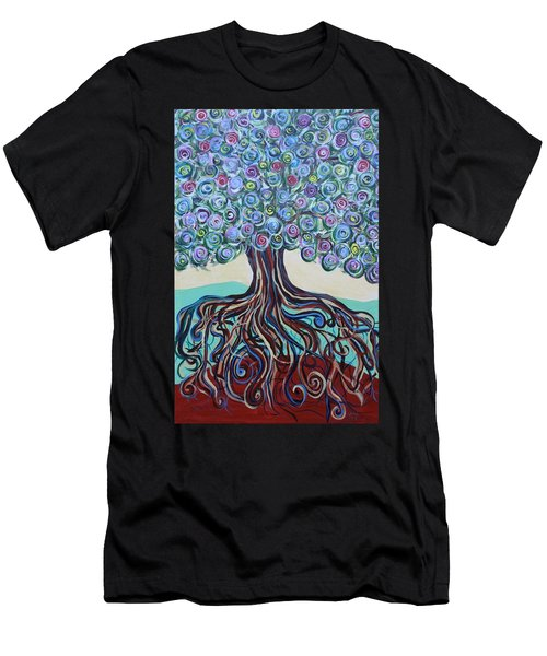 Tree Of Life-spring Men's T-Shirt (Athletic Fit)