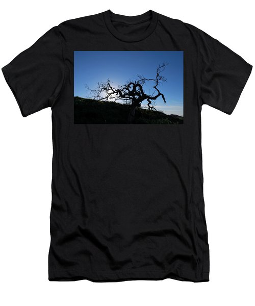Men's T-Shirt (Athletic Fit) featuring the photograph Tree Of Light Silhouette Hillside by Matt Harang