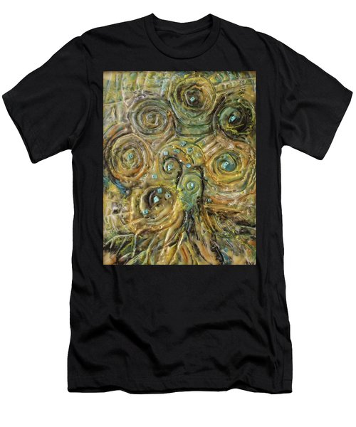 Tree Of Swirls Men's T-Shirt (Athletic Fit)