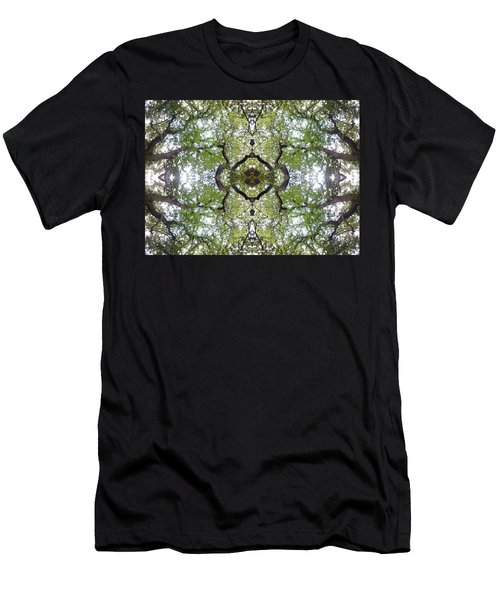 Tree Photo Fractal Men's T-Shirt (Athletic Fit)