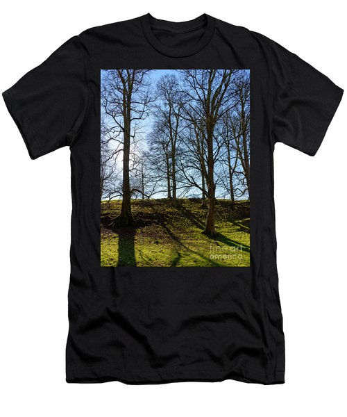 Tree Silhouettes Men's T-Shirt (Athletic Fit)