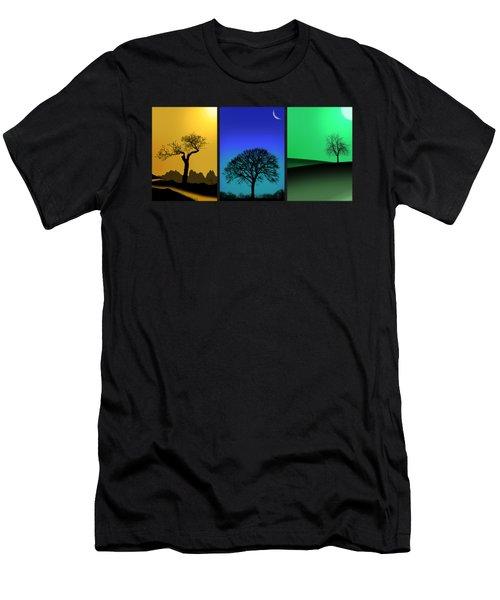 Tree Triptych Men's T-Shirt (Slim Fit) by Mark Rogan