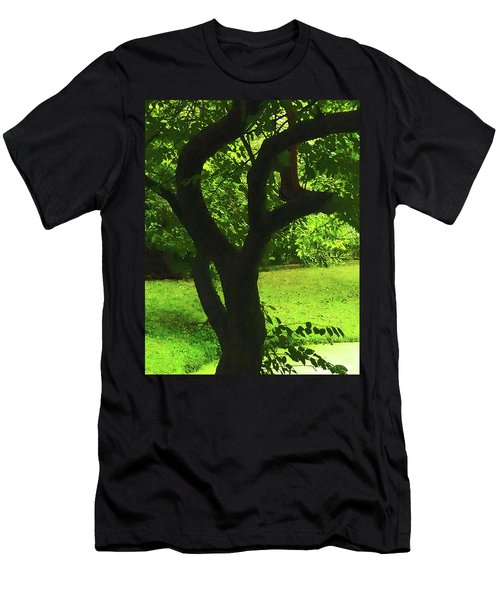 Tree Trunk Green Men's T-Shirt (Athletic Fit)