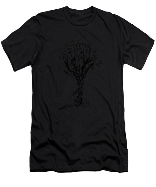 Tree With Bindweed Men's T-Shirt (Athletic Fit)