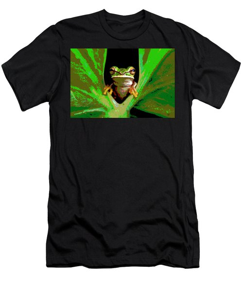 Treefrog Men's T-Shirt (Slim Fit) by Charles Shoup
