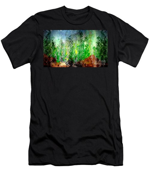 Men's T-Shirt (Slim Fit) featuring the painting Trees 4 by John Krakora