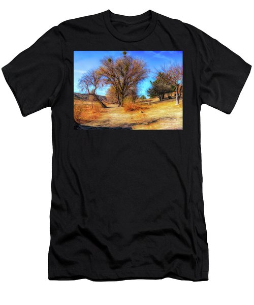Trees Along Elizabeth Lake Men's T-Shirt (Athletic Fit)