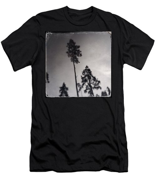 Trees Black And White Wetplate Men's T-Shirt (Athletic Fit)
