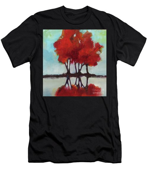 Men's T-Shirt (Athletic Fit) featuring the painting Trees For Alice by Michelle Abrams