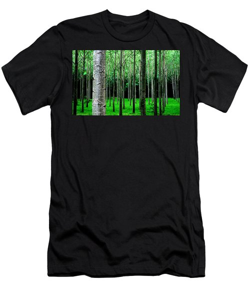 Trees In Rows Men's T-Shirt (Athletic Fit)