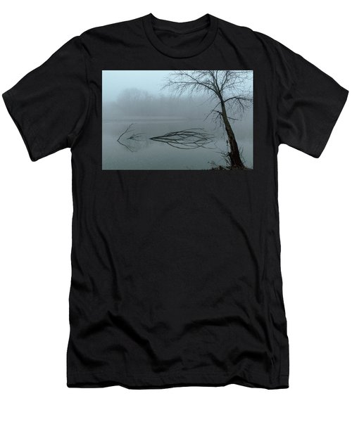 Trees In The Fog On The River Men's T-Shirt (Athletic Fit)