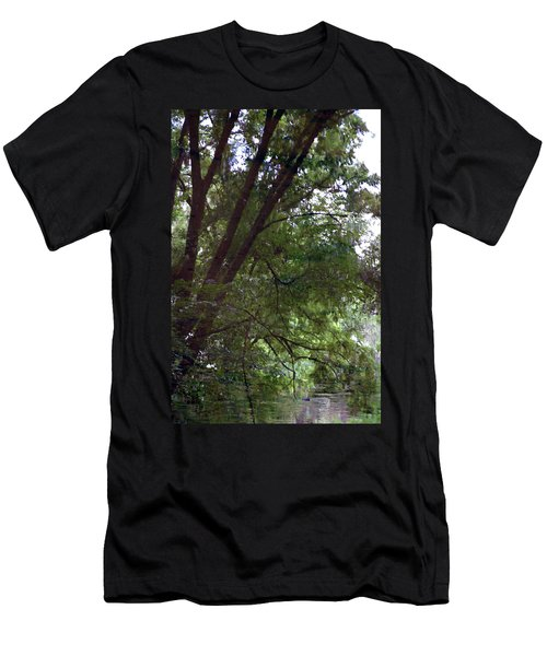 Trees Reflected In A Woodland Stream 2867 H_2 Men's T-Shirt (Athletic Fit)