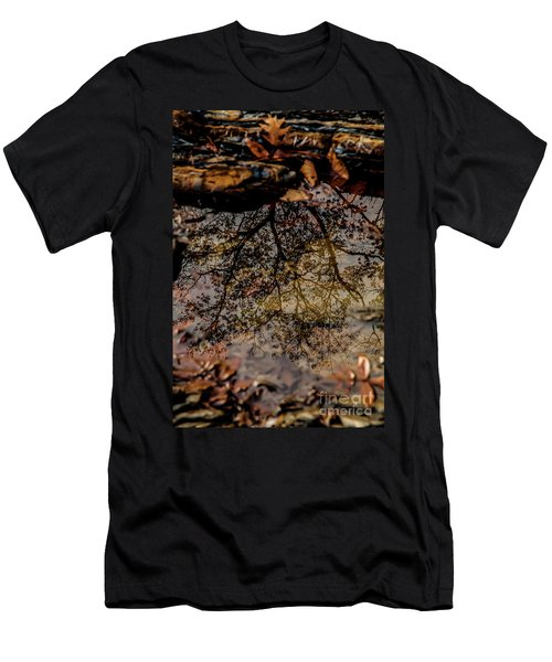 Men's T-Shirt (Slim Fit) featuring the photograph Tree's Reflection by Iris Greenwell