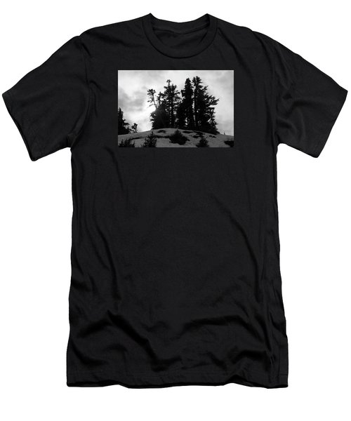 Trees Silhouettes Men's T-Shirt (Slim Fit) by Yulia Kazansky