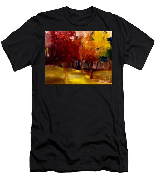 Men's T-Shirt (Athletic Fit) featuring the painting Treescape by Michelle Abrams