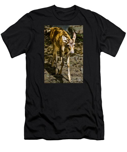 Men's T-Shirt (Athletic Fit) featuring the photograph Trepidation by Ray Shiu