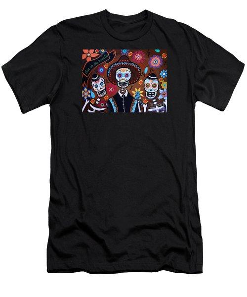 Tres Amigos Mariachi Men's T-Shirt (Athletic Fit)