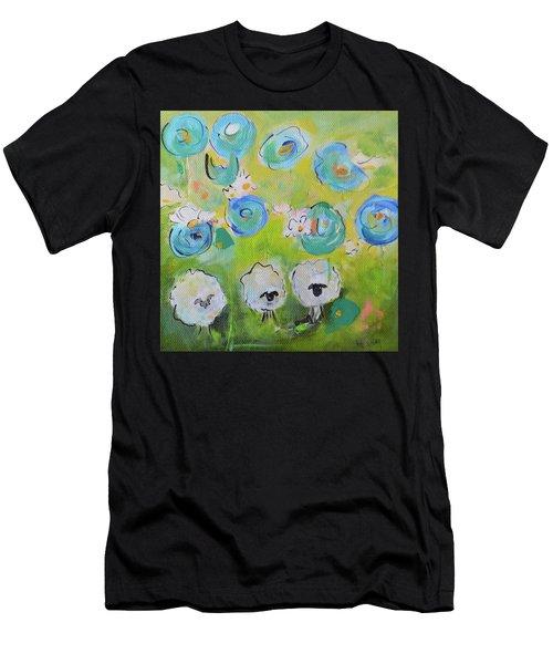 Tres Sheep Men's T-Shirt (Athletic Fit)
