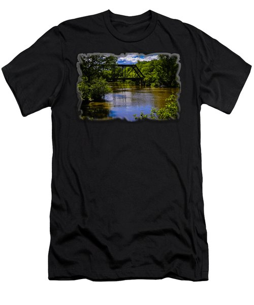 Trestle Over River Men's T-Shirt (Athletic Fit)