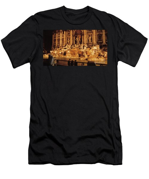 Trevi At Night Men's T-Shirt (Athletic Fit)