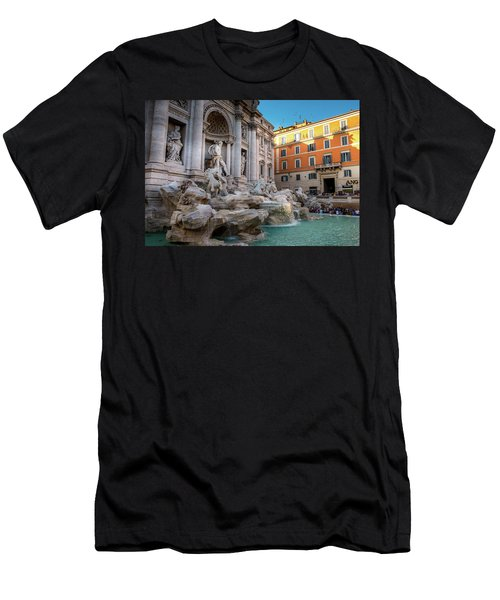 Trevi Fountain Men's T-Shirt (Slim Fit) by Fink Andreas