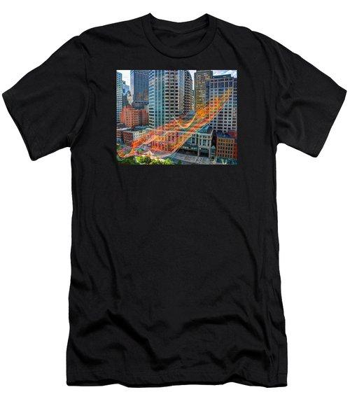 Tri Mountain Sculpture 002 Men's T-Shirt (Athletic Fit)