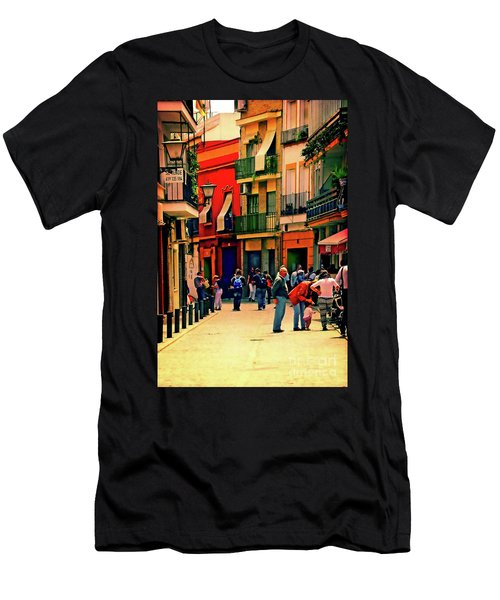 Men's T-Shirt (Slim Fit) featuring the photograph Triana On A Sunday Afternoon 3 by Mary Machare