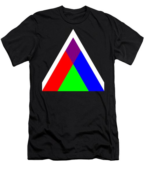 Triangles Of Light And Colour Men's T-Shirt (Athletic Fit)