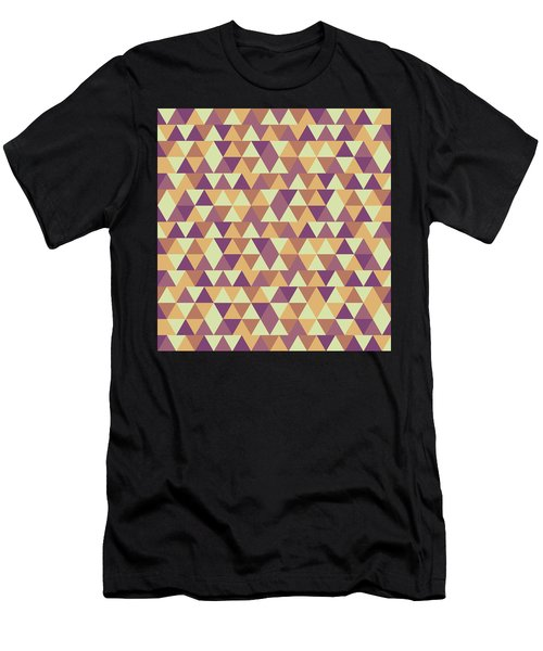Triangular Geometric Pattern - Warm Colors 10 Men's T-Shirt (Athletic Fit)