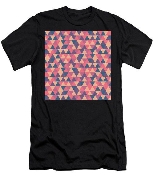Triangular Geometric Pattern - Warm Colors 11 Men's T-Shirt (Athletic Fit)