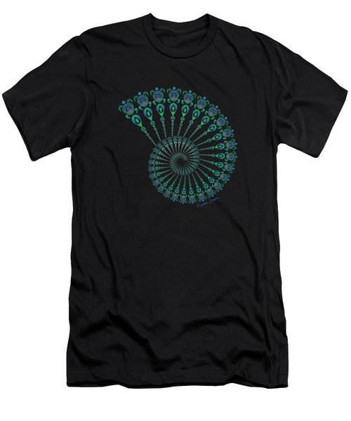 Tribal Turtle Spiral Shell Men's T-Shirt (Athletic Fit)