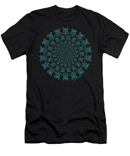 Tribal Turtle Tunnel Men's T-Shirt (Athletic Fit)