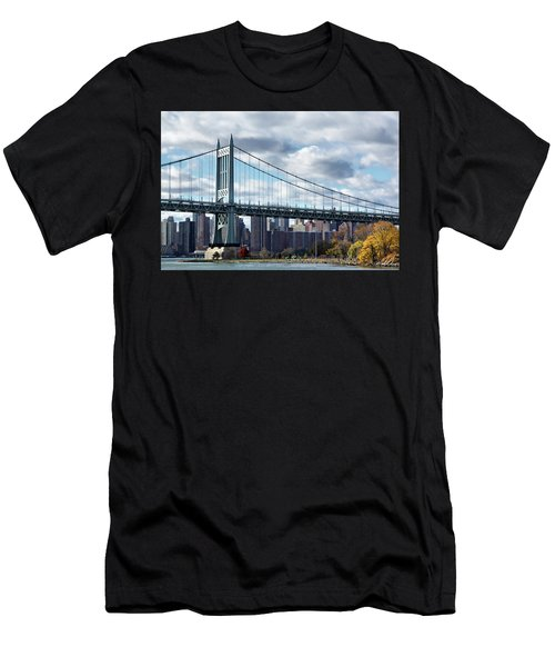 Triboro Bridge In Autumn Men's T-Shirt (Athletic Fit)